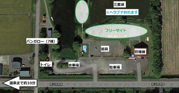 三重湖公園キャンプ場MAP