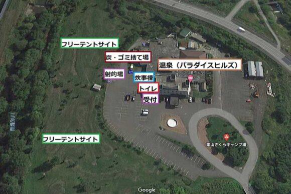 さくらキャンプ場(栗山)の地図MAP