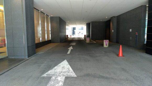 メルキュールホテル札幌の車寄せ