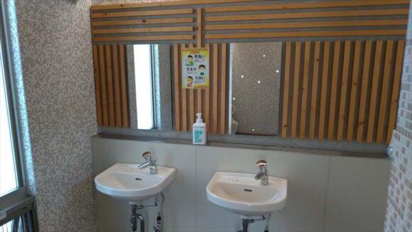 ファミリーランドみかさ遊園キャンプ場のトイレ