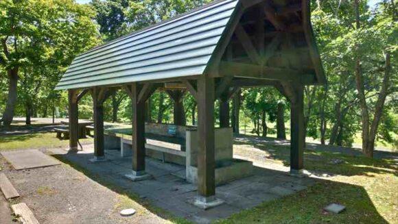 いわみざわ公園キャンプ場一般サイトの炊事場
