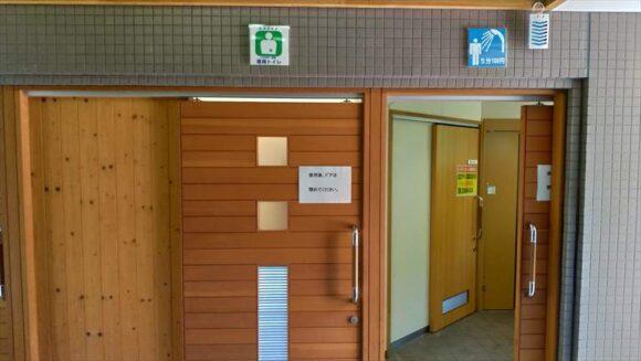 いわみざわ公園キャンプ場オートサイトのトイレ・シャワー