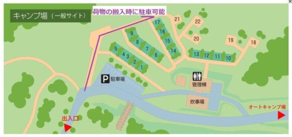 いわみざわ公園キャンプ場一般サイトMAP