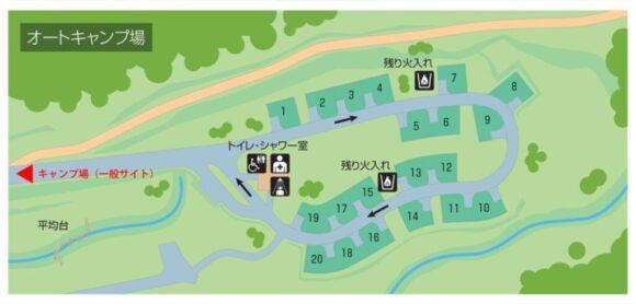 いわみざわ公園キャンプ場オートサイト