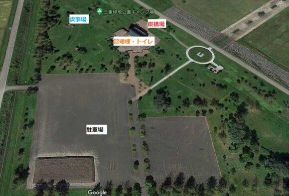 三重緑地公園キャンプ場MAP2