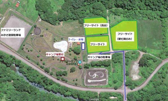 ファミリーランドみかさ遊園キャンプ場MAP