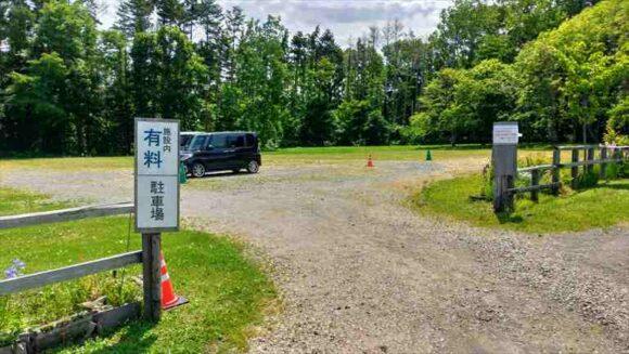 江別市森林キャンプ場の駐車場