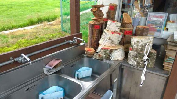 弥生パークキャンプ場の炊事棟