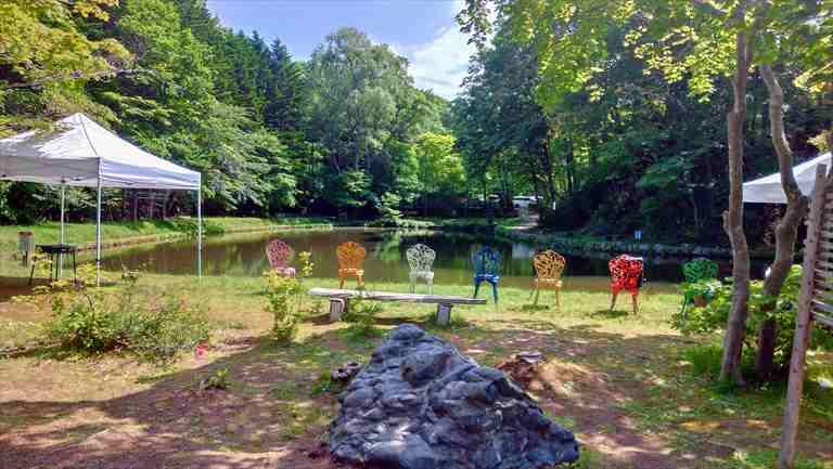 紅桜アウトドアガーデンのディキャンプ専用タープ(2区画)