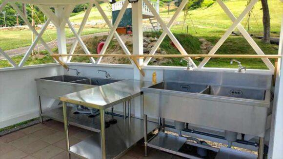 ばんけいキャンプフィールドの炊事場