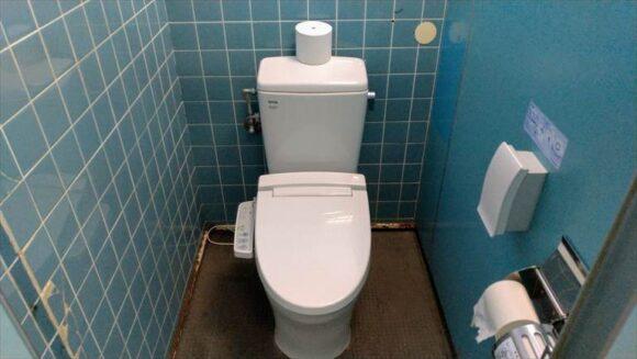 ばんけいキャンプフィールドのトイレ