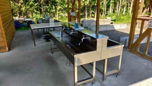 北広島市自然の森キャンプ場のの炊事棟
