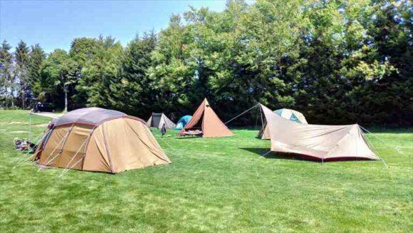 メイプルキャンプ場(恵庭)のフリーサイト