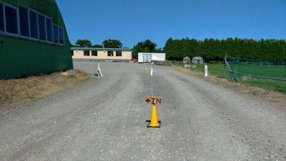 メイプルキャンプ場の入場ゲート