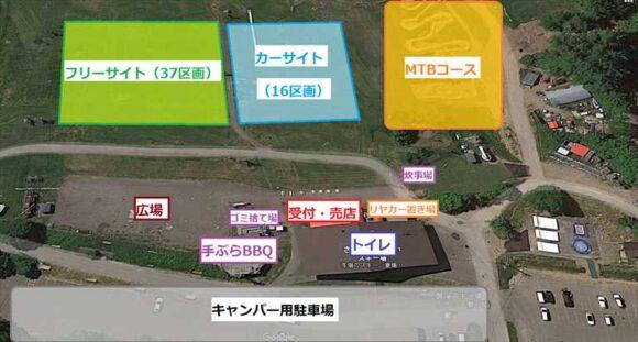 ばんけいキャンプフィールド(ban.K camp field)のMAP