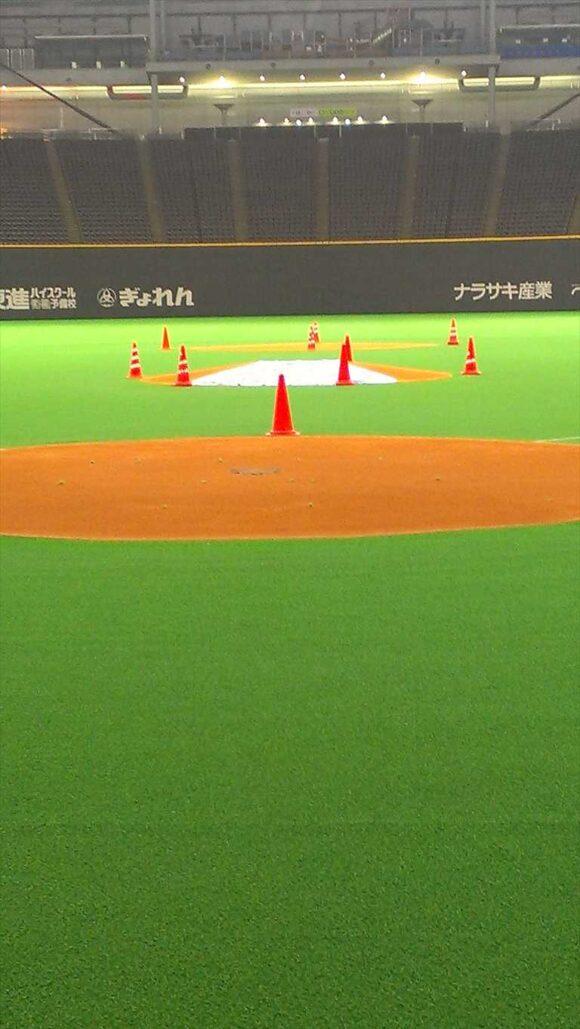 札幌ドームで草野球