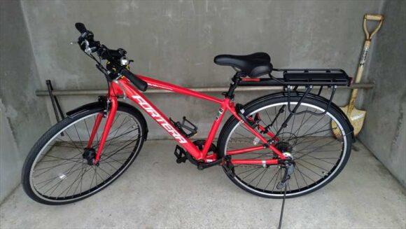 フードデリバリーの配達に使用しているクロスバイク