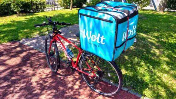 Woltの配達では自転車も活躍