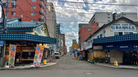 二条市場の仲町通り