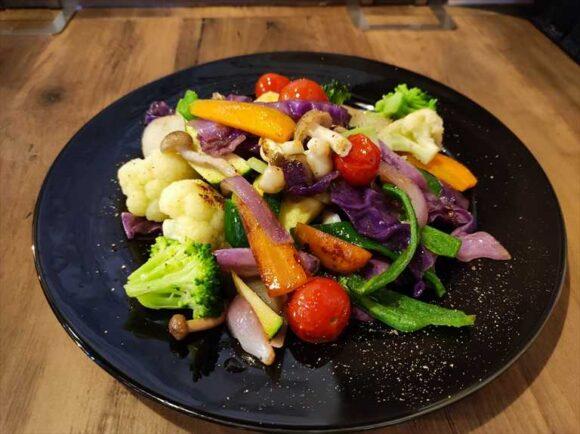 真空瞬間蒸し彩り温野菜のサラダ