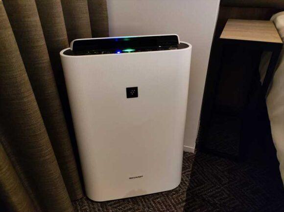 すすきのグランベルホテルの加湿機能付き空気清浄機
