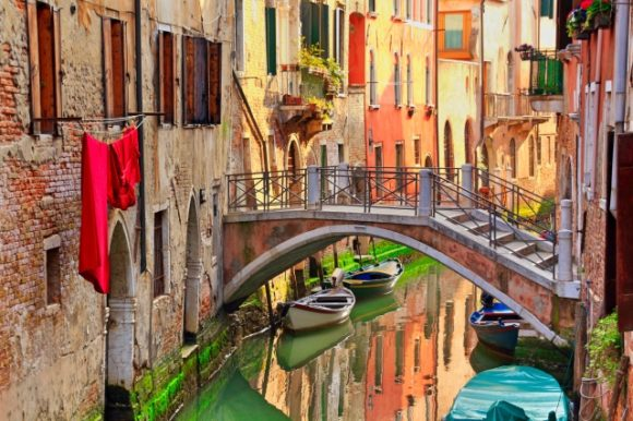 イタリアベネチアの街並み
