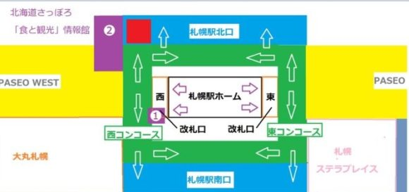 札幌駅構内お土産売り場