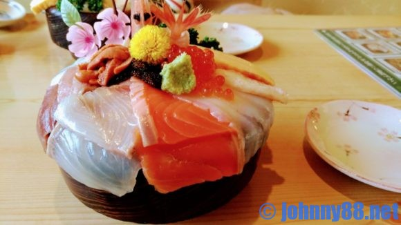 恵庭の幸寿司の「幸寿司丼」アップ画像
