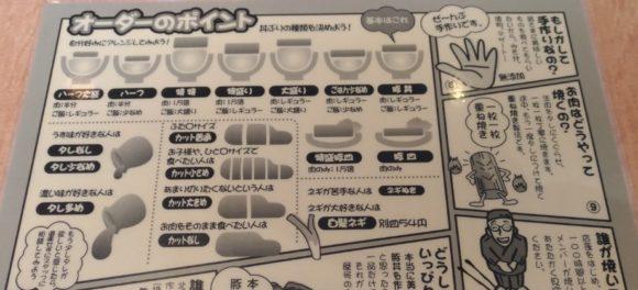 十勝豚丼いっぴんのオーダーのポイントの紙