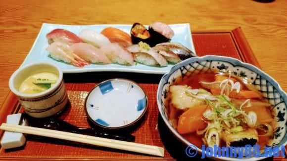 四季花まるのランチ寿司セット