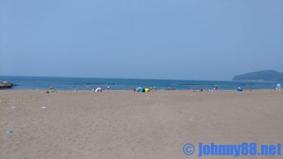 浜益川下海浜公園の砂浜