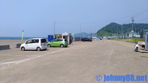 浜益川下海水浴場駐車場