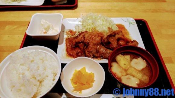 串鳥のランチ生姜焼き定食