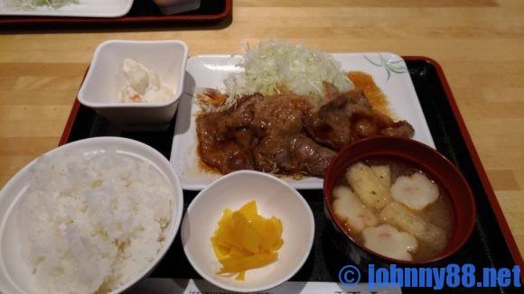 札幌駅ランチおすすめ「串鳥」のランチ生姜焼き定食