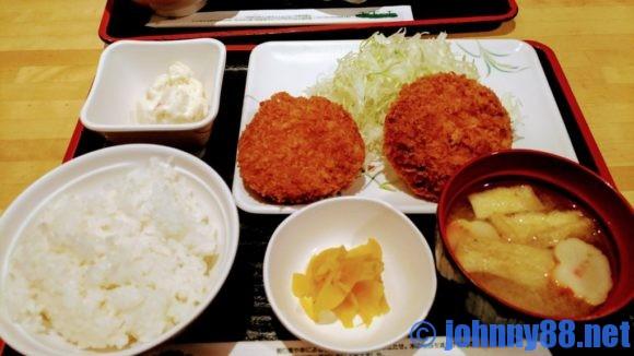 串鳥のランチメンチカツ定食