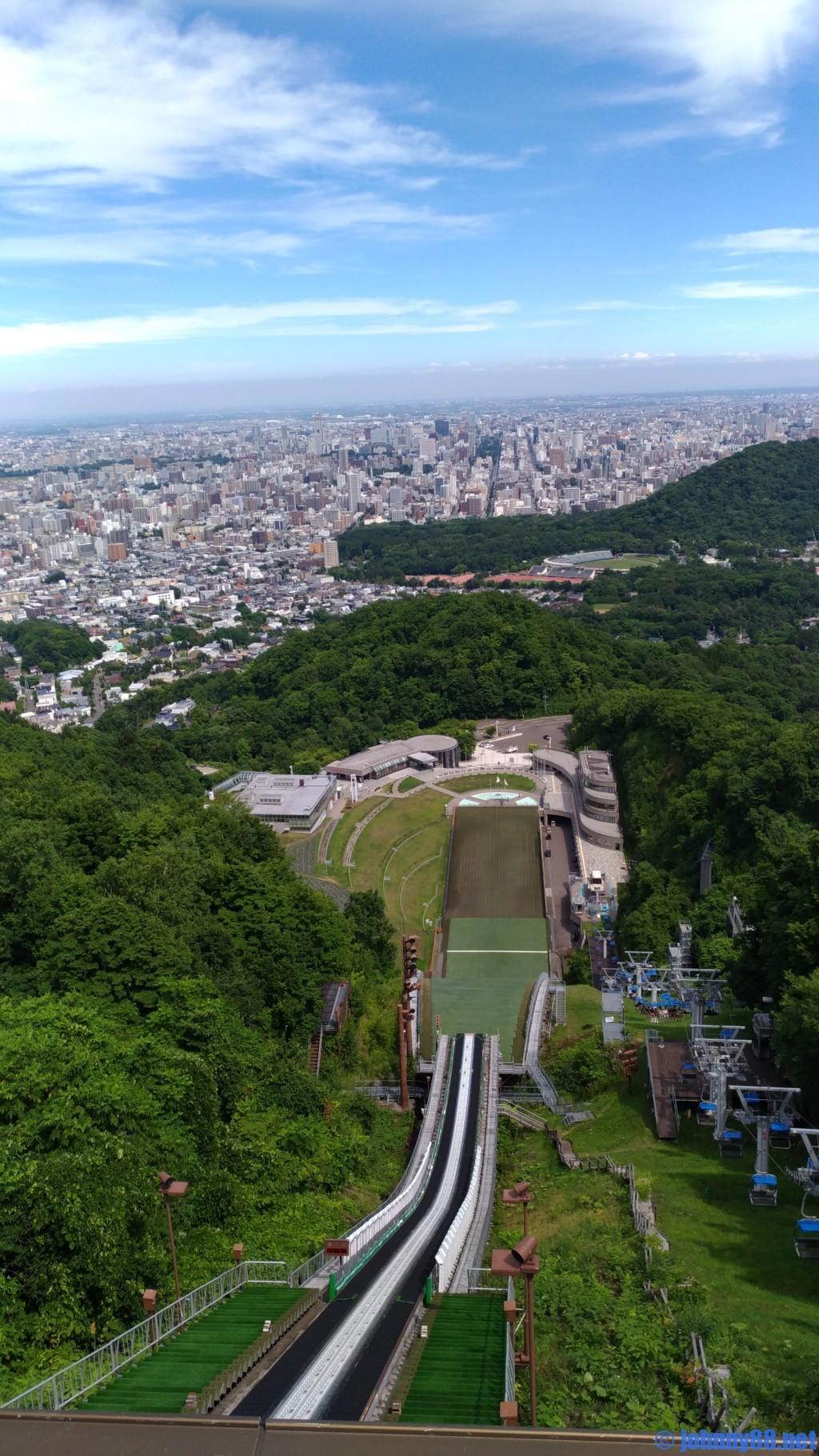 大倉山展望台からみた眺望