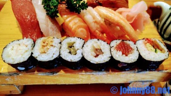 大船鮨の寿司ランチ巻物