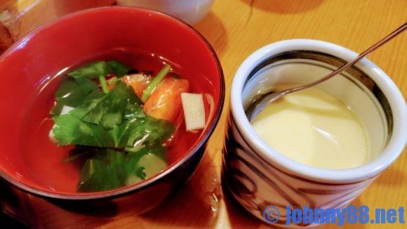 大船鮨のランチ茶碗蒸しとお吸い物
