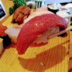 大船鮨のランチ握りのマグロ