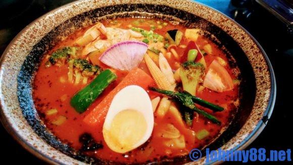 カレー食堂心の「とり野菜のスープカレーアップ画像