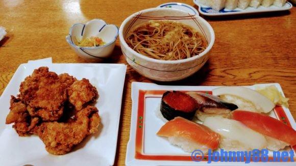 丸福寿司のすしザンギ定食(1030円)