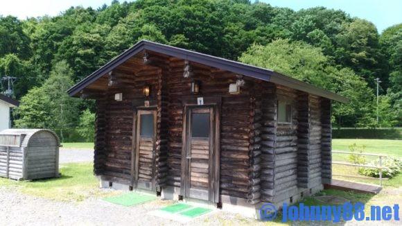 厚田キャンプ場のトイレ