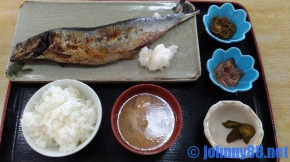 青塚食堂の特大にしん焼き定食