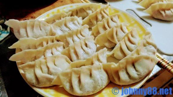 大竹製麺所の餃子の皮で作った餃子