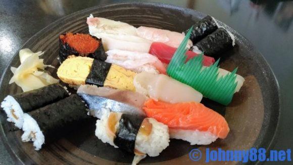 江戸金寿司のランチ寿司握り