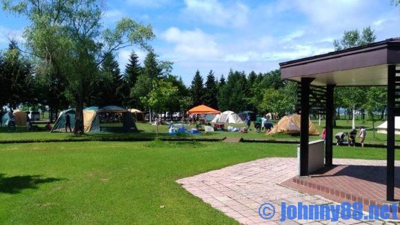 ベルパークちっぷべつ公園キャンプ場の芝生サイト