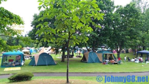 ベルパークちっぷべつ公園キャンプ場サイト画像