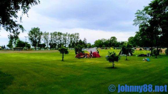 ベルパークちっぷべつ公園キャンプ場横の野球場