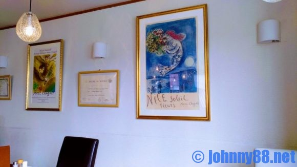 札幌市東区の洋食レストランゆっぴーの店内に飾られている絵画