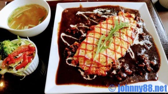 札幌市東区の洋食レストランゆっぴーのオムライス